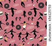 swing dance pattern. dancers... | Shutterstock .eps vector #656125753