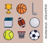 sports equipment design | Shutterstock .eps vector #656142943