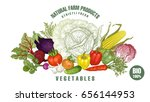 vegetables big set. realistic... | Shutterstock . vector #656144953