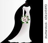 illustration of beauty black... | Shutterstock .eps vector #656145493