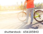 fat girl cycling | Shutterstock . vector #656185843