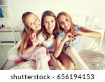 friendship  people  pajama... | Shutterstock . vector #656194153