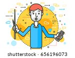 vector illustration orator... | Shutterstock .eps vector #656196073