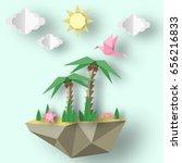 Summer Origami Art Applique....