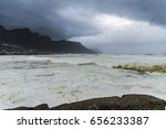 cape town storm with table... | Shutterstock . vector #656233387