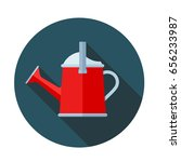 watering can flat icon with... | Shutterstock .eps vector #656233987