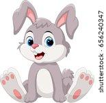 cute little bunny cartoon... | Shutterstock .eps vector #656240347