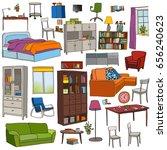 color vector set of modern... | Shutterstock .eps vector #656240623