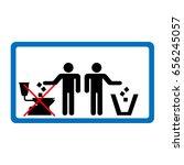 do not throw litter in toilet... | Shutterstock .eps vector #656245057