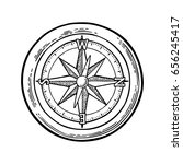 compass rose isolated on white... | Shutterstock .eps vector #656245417