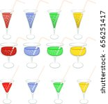 set of isolated colorful drinks   Shutterstock .eps vector #656251417