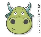 cute cartoon dragon.vector... | Shutterstock .eps vector #656251783