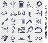 accessory icons set. set of 25...   Shutterstock .eps vector #656268577