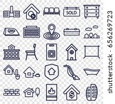 home icons set. set of 25 home... | Shutterstock .eps vector #656269723