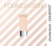 vector makeup cosmetic... | Shutterstock .eps vector #656284507
