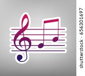 music violin clef sign. g clef... | Shutterstock .eps vector #656301697