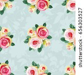 seamless floral pattern with... | Shutterstock .eps vector #656303527