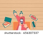 online shopping concept with... | Shutterstock .eps vector #656307337