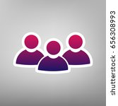 team work sign. vector. purple... | Shutterstock .eps vector #656308993