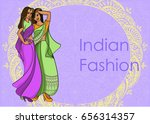 indian fashion set. vector... | Shutterstock .eps vector #656314357