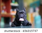 black french bulldog with blur... | Shutterstock . vector #656315737