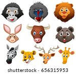 different types of wild animals ... | Shutterstock .eps vector #656315953