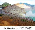 mount bromo volcano  east java  ... | Shutterstock . vector #656323027