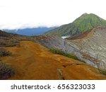 mount bromo volcano  east java  ... | Shutterstock . vector #656323033
