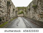 holy road  cathedral gate  st....   Shutterstock . vector #656323333