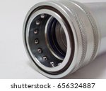 socket hydraulic quick coupler  ... | Shutterstock . vector #656324887