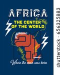 africa the center f the world t ... | Shutterstock .eps vector #656325883