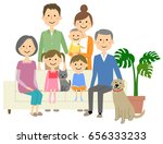 family to relax on sofa | Shutterstock .eps vector #656333233