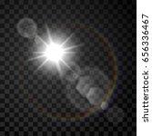 transparent sunlight special... | Shutterstock .eps vector #656336467