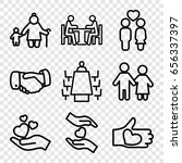 together icons set. set of 9... | Shutterstock .eps vector #656337397