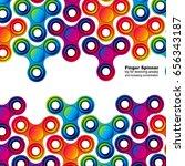 fidget hand finger spinner... | Shutterstock .eps vector #656343187