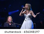 Small photo of BROOKLYN, NY - JUNE 03: Singer Valeria performs on stage during the Viktor Drobysh 50th year birthday concert at Barklay Center on June 03, 2017 in Brooklyn NY.