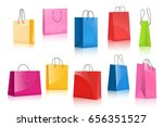 realistic colorful paper... | Shutterstock .eps vector #656351527