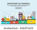 investment in yourself vector... | Shutterstock .eps vector #656351623