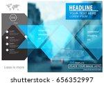 abstract vector modern brochure ... | Shutterstock .eps vector #656352997