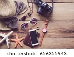 travel accessories costumes....   Shutterstock . vector #656355943