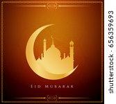 abstract stylish eid mubarak... | Shutterstock .eps vector #656359693