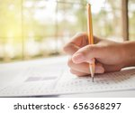 hand student testing in... | Shutterstock . vector #656368297