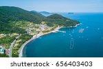 scenery consist of boat is... | Shutterstock . vector #656403403