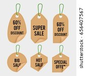 realistic price tag | Shutterstock .eps vector #656407567