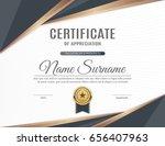 certificate of appreciation... | Shutterstock .eps vector #656407963