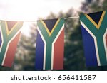 south africa flag pennants | Shutterstock . vector #656411587