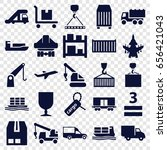 Cargo Icons Set. Set Of 25...