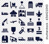 cargo icons set. set of 25... | Shutterstock .eps vector #656421043
