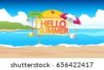 abstract summer vector... | Shutterstock .eps vector #656422417