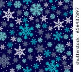 christmas pattern made of... | Shutterstock .eps vector #656437897